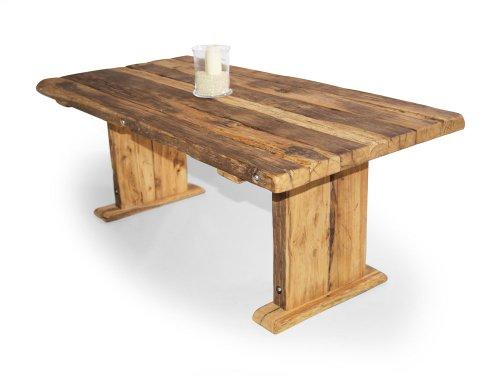 moebel-eins Wikinger Kulissentisch/Massivholzesstisch, Material Massivholz, Asteiche, 180 x 100 cm, geölt