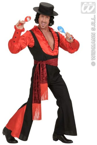 Für Kostüme Samba Männer (Kostüm-Set Spanier, Größe)