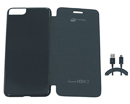 Flip Cover For Micromax Canvas Knight 2 E471 And One Charging Cable  available at amazon for Rs.148