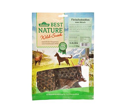 Dehner Best Nature Hundesnack, Fleischstreifen vom Hirsch, 5 Stück (100 g)