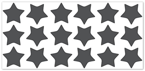wandfabrik - Fahrradaufkleber - 18 praktische Sterne in dunkelgrau