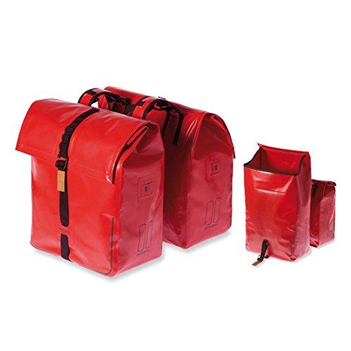 Basil Urban Dry Double Bag - Wasserdichte Doppeltasche rot