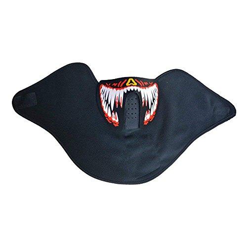 Samtlan Leuchtende Maske Leuchtmaske Rave Maske Kostüm Maske Soundaktiviert Glühen in Dunkel für Party Festival Halloween Kostüm