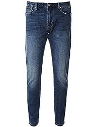 f68f7618c5 Armani Hombres los Jeans Slim Fit J06 Dril De Algodón Azul