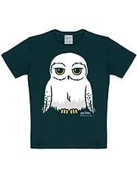 Logoshirt - Harry Potter - Lechuza - Hedwig - Camiseta - Negro - Diseño Original con