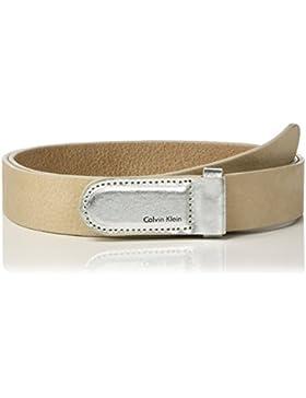 Calvin Klein Damen Gürtel Metallic Leather Buckle Belt
