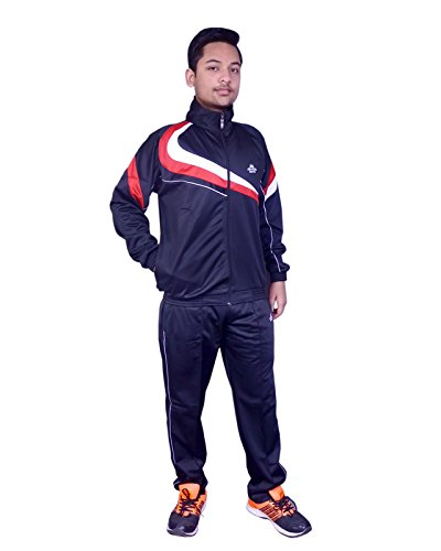 Leeora Men's super poly fabric Tracksuit K4517-40-Pack of 2