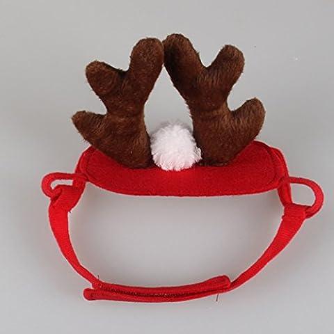 Vollter Elk Pet Dog costume del cappello della protezione cucciolo Teddy animali Decor Cosplay di Natale