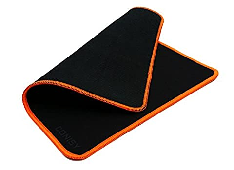 Gaming-Mauspad,CONISY Gaming Mouse Mat - Kompatibel mit allen Maustypen (Kugel,Optisch,Laser) - schwarz (M, orange