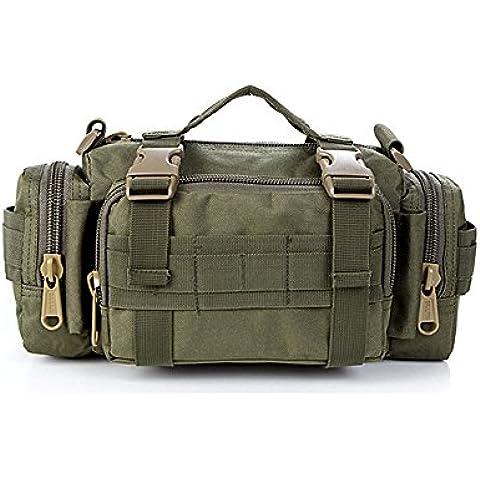 Contever® Deportes Cangurera / Bolso de la Cintura de la cámara - Multifunción Hombro Bolsa / Paquete / Equipaje Waist-Bag BackPack para Actividades al aire libre (Verde