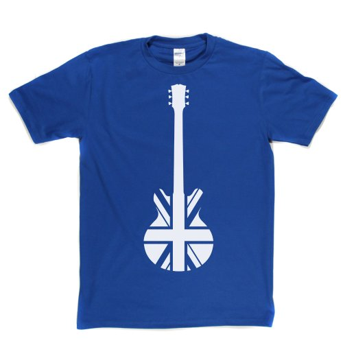 Guitar Union J-Axe Union Jack British Rock Mod Punk Tee T-shirt Königsblau