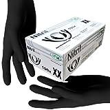 SFM ® BLACKLETS Nitril : XS, S, M, L, XL schwarz puderfrei F-tex Einweghandschuhe Einmalhandschuhe Untersuchungshandschuhe Nitrilhandschuhe XL (100)