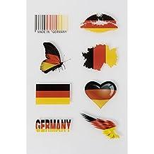 WM Tattoos Deutschland | Flash Tattoo für Euer Outfit zur Weltmeisterschaft 2018 | 3 A5 Bögen mit zahlreichen Motive |