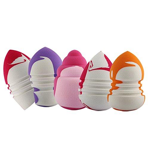 MagiDeal 5pcs Houppettes à Poudre Beauté Applicateur Fond de Teint Poudre Blender Liquide Eponge Bouffée en Latex - Multicolore, Taille unique