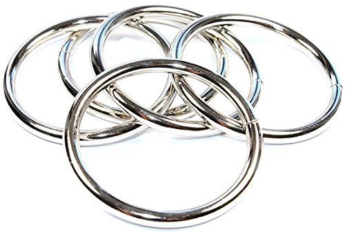 O-Ringe 5 Stück 50x5mm Rundringe Stahl, verzinkt