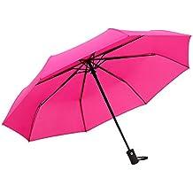 Cebbay-Paraguas Paraguas Plegable Hombre Automático Antiviento Plegable con Apertura y Cierre Automático Mango Curvado