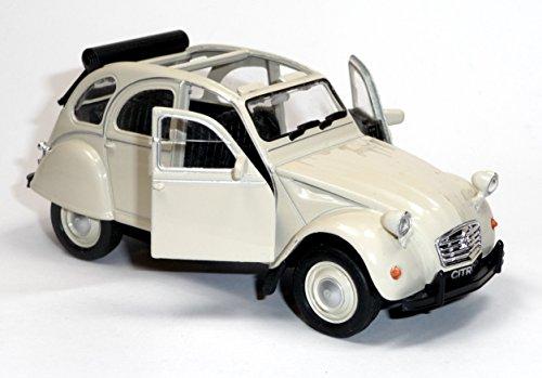 Citroen 2CV 1962 Spritzguß Ente die Kultige ENTE Modell-Auto CITROEN 2CV 1:38 WELLY Cabrio oder Geschlossen in verschiedenen Farben (beige - Citroen Modell