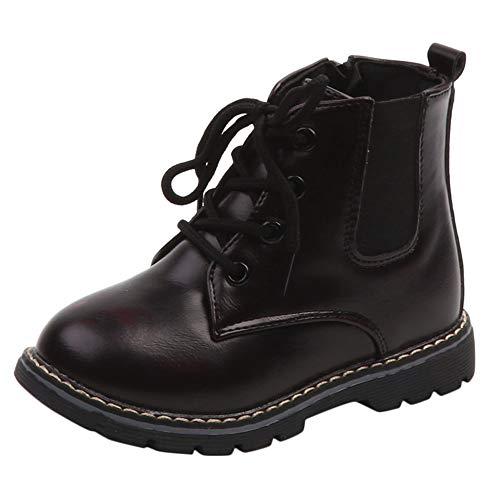 Robemon Stiefel & Stiefeletten Baby Jungen Mode Schuhe Leder Herbst Winter Casual Schuhe Jungen Kinder 1 - 6 Jahre Gr. Small, Du Vin -