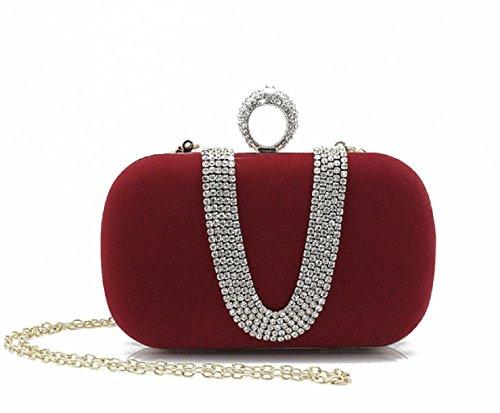 Mini Strass Handtasche/Bankett-Paket/Tasche Clutch Abendtasche/Ring-Verschluss-Tasche-A B