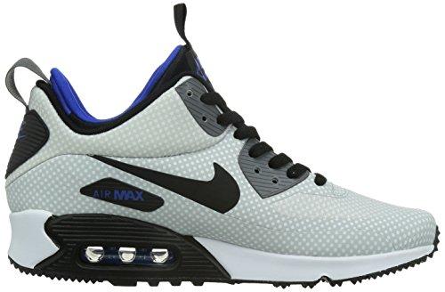 Nike Air Max 90 Mid Wntr Print, Scarpe da Corsa Uomo, Grau Silver / Black / Grey / Blue (Nght Silver / Blk-Gm Ryl-Drk Gry)