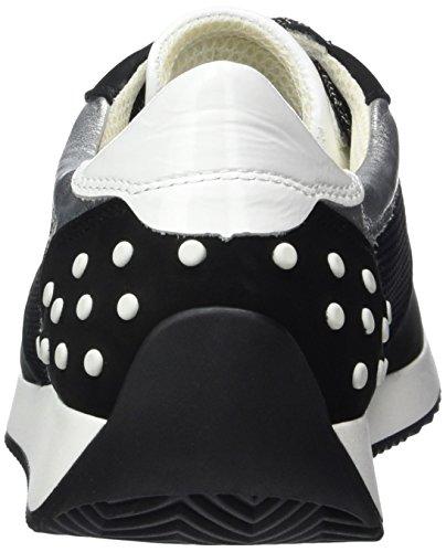 Ara Lissabon, Sneaker Donna Nero (Schwarz,Silber/Weiss)