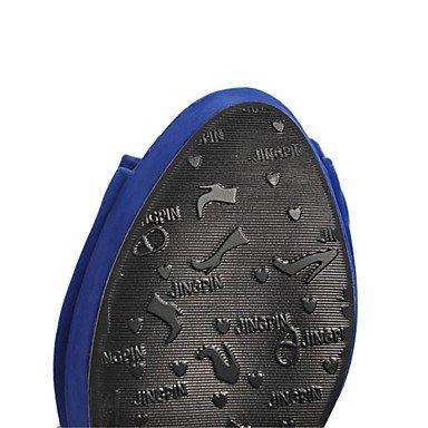 LvYuan Sandali-Formale Casual Serata e festa-Comoda Innovativo-Quadrato-Materiali personalizzati Finta pelle-Nero Blu Rosso Beige Red