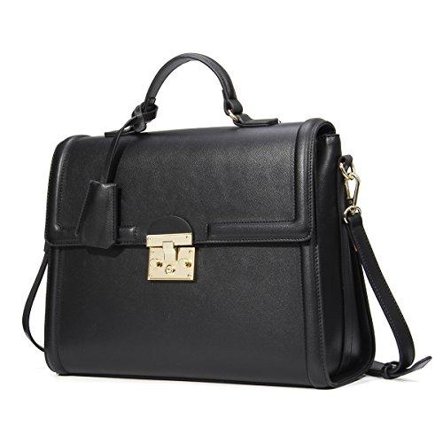 Leder Designer Handtaschen Dame Schulter Tasche Business Aktenkoffer Schwarz (Leder Designer Handtaschen)