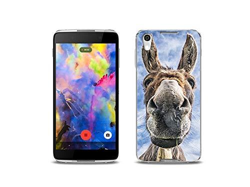 etuo Handyhülle für BlackBerry DTEK50 - Hülle, Silikon, Gummi Schutzhülle - Lustiger Esel