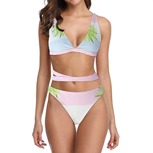 , S - L Top-Bikini-Frau Verknotete Details Push Up-BH Gesteppte Bad Bademode, Brasilianisch, Zweiteilige Anzüge, Strand, Sexy, Jahrgang Badebekleidung Swimsuit swimanzug Swimwear ()