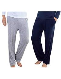 b6878e1fe95f Wantschun Men s Modal Mix Bamboo Fiber Casual Lounge Pants with Pockets  Yoga Trousers Sleepwear Pyjamas Sleeping