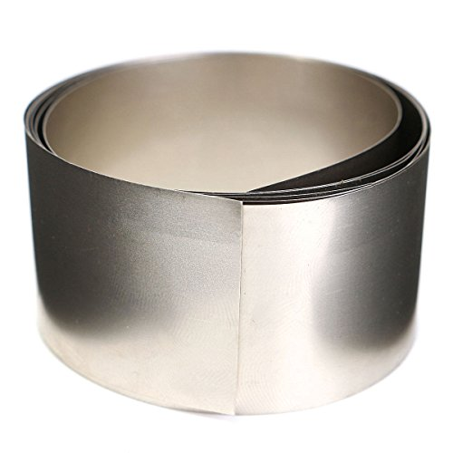 Rishil World 99.96!% Pure Nickel Metal Foil Silver Gray Ni Plated Thin Sheet 0.1x30x1000mm