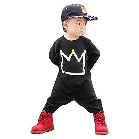 Malloom® Bébés Garçons Filles Impression Mamelon Combinaison Le maillot de corps vêtements Tenues (80,