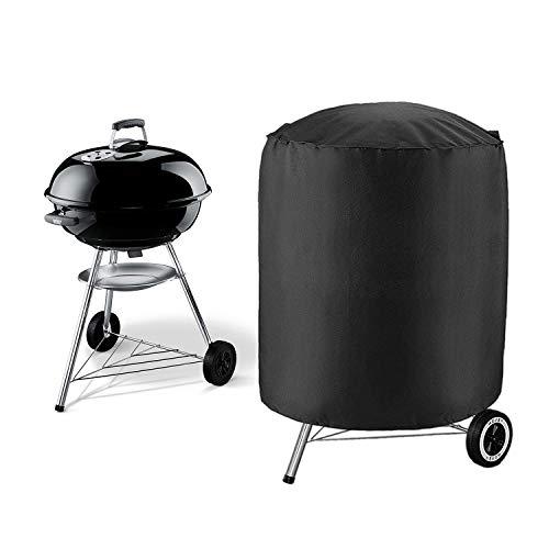 Izuku copertura barbecue a cupola impermeabile telo protettivo per bbq grill anti pioggia polvere sole neve tessuto oxford 73x73x71cm per weber ...