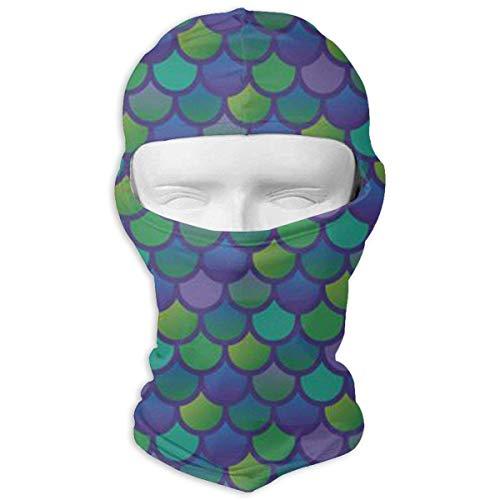 Preisvergleich Produktbild Jxrodekz Balaclava Mermaid Green Fish Scale Motorcycle Face Masks Windproof Ski Mask Sports Balaclava