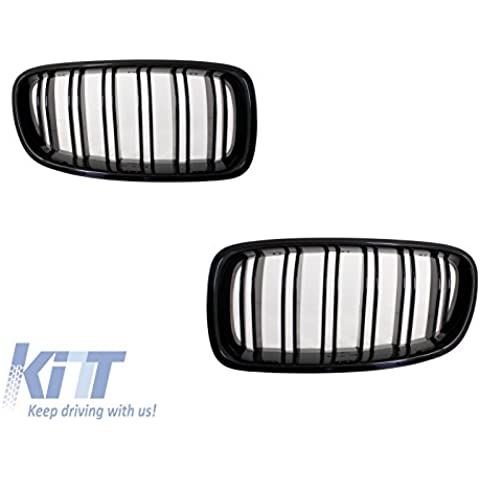 Kitt fgbmf10dpb BMW F10F11Serie 52010+ rejilla de parrilla doble diseño de rayas M M5, negro