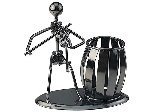 Música iron man art acero bolígrafo recipiente soporte lápiz Copa Pot secretario escritorio música decoración juguete regalo, color Violin