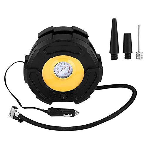 TOOGOO Auto Reifen Füller, 12V Tragbare Auto Reifen Füller Luft Kompressor Pumpe 100 Psi mit 3 Düsen für Auto Fahrrad Ball Boot -
