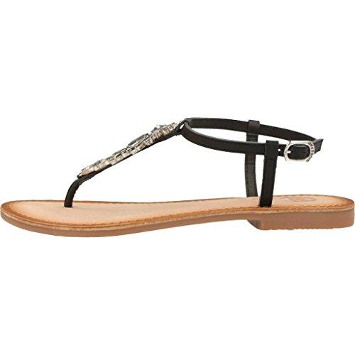 GIOSEPPO ARANZAZU 39157 black sandali donna infradito nero pietre gioiello cuoio Nero