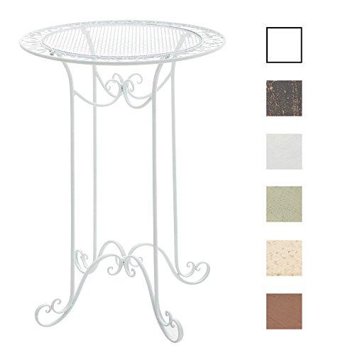 CLP Eisen-Stehtisch Thalia im Jugendstil I Gartentisch mit geschwungenen Beinen I in Verschiedenen Farben erhältlich Weiß