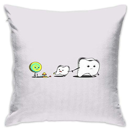 Dental Teeth Dental HumoCushion CoveCase Pillow Custom Zippered Square Pillowcase 18x18 (one Side) Pillow Covers online
