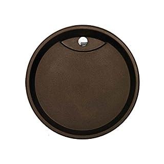 Astracast Vortex Schokometallic Granit-Abtropffläche Ablage Einbaubecken Braun