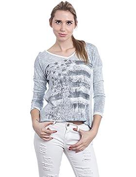 Abbino 6667 Camisas Blusas Tops para Müjer - Hecho en ITALIA - 5 Colores - Verano Otoño Invierno Mujeres Formales...