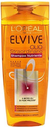 L'Oreal - Elvive Shampoo Nutriente Olio Straordinario, Capelli Secchi O Spenti - 250Ml
