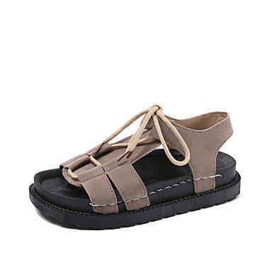 Tacchi estate primo Walkers PU Office & carriera abbigliamento sportivo a cuneo fibbia tacco nero argento Oro a piedi Camel