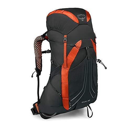 Osprey Exos 38 leichter Trekkingrucksack für Männer - Blaze Black (MD) -
