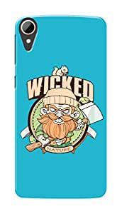 HTC Desire 830 Black Hard Printed Case Cover by Hachi - Wicked Man Design
