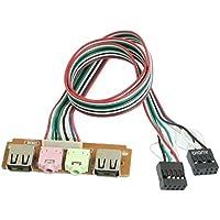 Puerto frontal de USB - SODIAL(R)linea de cable de auricular de microfono