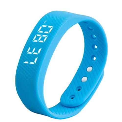 LRWEY Fitness Armband mit Pulsmesser, 3D LED Kalorien Schrittzähler Sport Smart Armband Armbanduhr Unisex mit iOS Android Handy