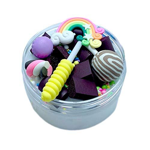 harms Clear Slime Schöne Farbe Lollipop Slime Kids Relief Stress Spielzeug (Weiß) ()