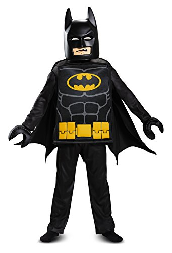 Batman Kopf Lego Kostüm - LEGO Batman Movie - Batman Deluxe, Kostüm, S (4-6 J.), 109-126 cm